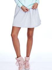Jasnoszara rozkloszowana dresowa spódnica
