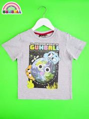 Jasnoszary t-shirt chłopięcy GUMBALL