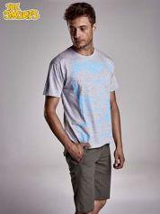 Jasnoszary t-shirt męski SMERFY