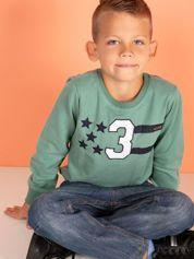 Khaki bluza dziecięca z naszywkami