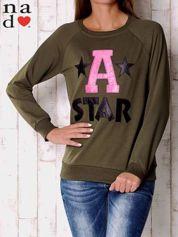 Khaki bluza z napisem A STAR