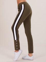Khaki damskie dresowe spodnie