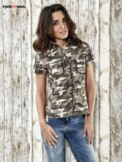 FUNK 'N' SOUL Khaki koszula w militarnym stylu Funk n Soul