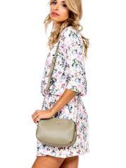 Khaki torba z dzielonymi komorami