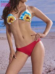 Koralowe klasyczne majtki kąpielowe damskie