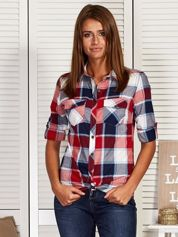 Koszula damska w kolorową kratę