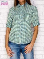 Koszula w kratkę zielona