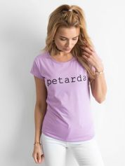 Koszulka z napisem jasnofioletowa