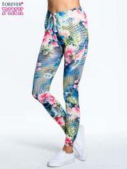 Kwiatowe legginsy z motywem floral print