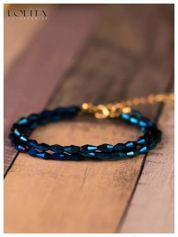 LOLITA Delikatna ciemno niebieska bransoletka damska BŁYSKOTKA