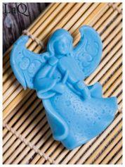 LaQ Mydełko Mały aniołek - niebieski / Zapach - wata cukrowa BEZ SLS i SLES