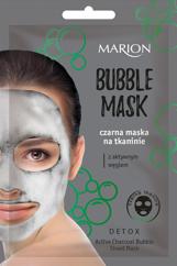 "Marion Detox Aktywny Węgiel Czarna Maska na tkaninie Bubble Mask  1szt"""