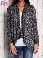 Melanżowy sweter z dłuższymi połami ciemnoszary