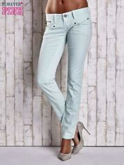 Miętowe spodnie ze stretchem