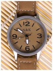 N & K brązowy zegarek RETRO FASHION
