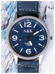 N & K czarny zegarek RETRO FASHION