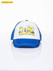 Niebieska chłopięca czapka z daszkiem MINIONKI
