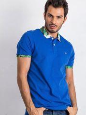 Niebieska męska koszulka polo Sour