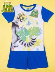 Niebieska piżama chłopięca KRÓL JULIAN