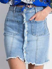 Niebieska spódnica Slitting