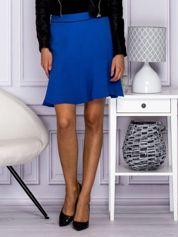 Niebieska spódnica z falbaną