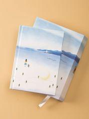 Niebieski pamiętnik na kłódkę