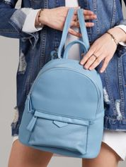 Niebieski plecak damski z ekoskóry