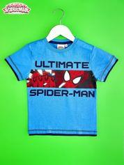 Niebieski t-shirt chłopięcy SPIDERMAN