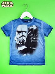 Niebieski t-shirt chłopięcy STAR WARS