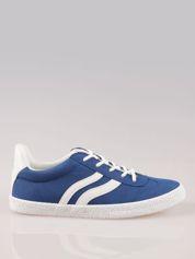Niebieskie buty sportowe w stylu casual