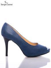 Niebieskie cieniowane szpilki Sergio Leone bez palców