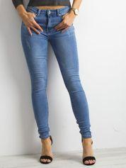 Niebieskie damskie dżinsy skinny