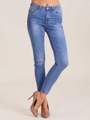 Niebieskie denimowe spodnie damskie