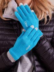 Niebieskie rękawiczki do ekranów dotykowych
