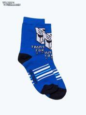 Niebieskie skarpetki chłopięce TRANSFORMERS