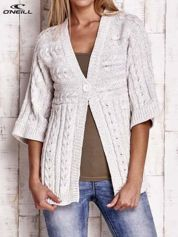 O'NEILL Beżowy melanżowy sweter z dzianiny