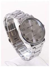 ORLANDO Klasyczny srebrny męski zegarek na bransolecie