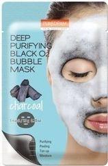 PUREDERM Głęboko oczyszczająca maseczka bąbelkująca (bubble mask) z aktywnym węglem 20 g