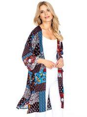 Patchworkowe kimono z rozporkami