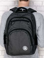 Plecak szkolny gładki z kieszeniami