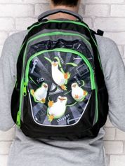 Plecak szkolny nadruk Pingwiny z Madagaskaru