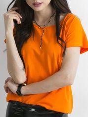 Pomarańczowy t-shirt Circle