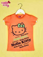 Butik Pomarańczowy t-shirt dla dziewczynki HELLO KITTY