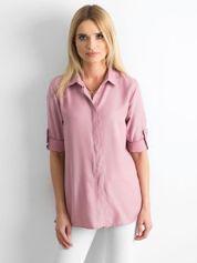 Pudroworóżowa bawełniana koszula