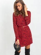 RUE PARIS Ciemnoczerwona sukienka Some
