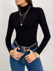 RUE PARIS Czarna bluzka Cassie