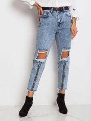 RUE PARIS Jasnoniebieskie jeansy Crystal