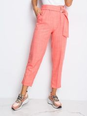 RUE PARIS Różowe spodnie Honey