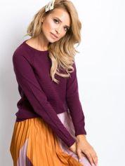 RUE PARIS Śliwkowy sweter Sienna