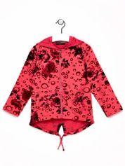 Różowa bluza dla dziewczynki w róże